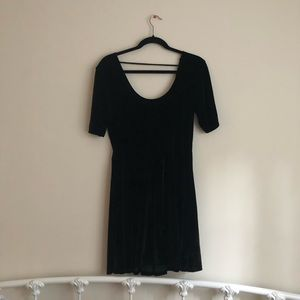 Urban Outfitter Black Velvet Dress